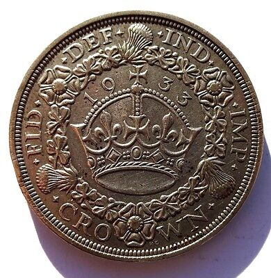 George V 1933 Wreath Crown VF