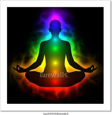 Human Energy Body, Aura, Chakra In Art Print Home Decor Wall Art Poster - C