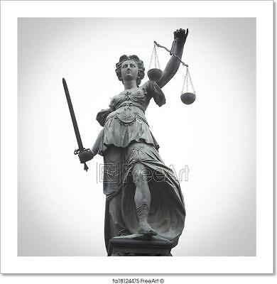 Lady Justice Art Print Home Decor Wall Art Poster - D (Lady Justice Art)