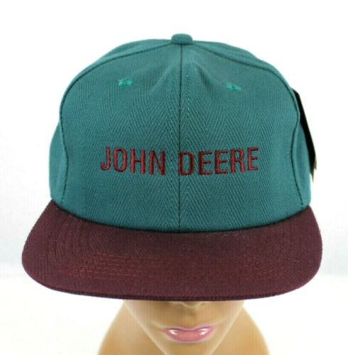 VINTAGE NWT K PRODUCTS JOHN DEERE EMBROIDERED LETTER SNAPBACK TRUCKER HAT!