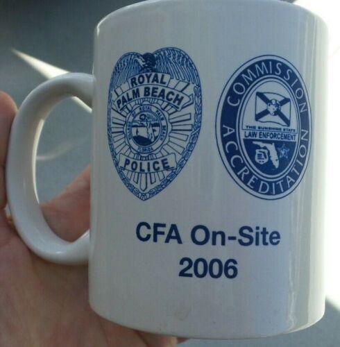 2006 DEFUNCT ROYAL PALM BEACH FLORIDA POLICE COFFEE MUG CFA ACCREDITATION