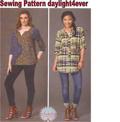 Women Blouse Top Pullover Tunic Sewing Pattern 7251  McCall's New Size 6-14 #r