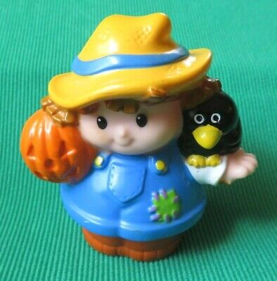 Fisher Price Little People FALL Halloween Pumpkin Party SCARECROW w/ crow  2010