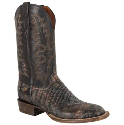 Lucchese, Mens, Timber, Belize, Caiman, Belly, Cowboy, Boots, -, Black, AL2037.W8
