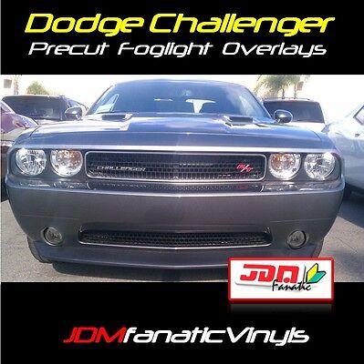 Dodge Challenger Srt Mopar Fog Light Smoked Overlays Tint Vinyl Wrap Kit