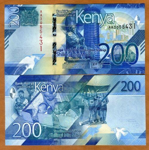 Kenya, 200 shillings, 2019, P-New, AA-Prefix, UNC > New Design