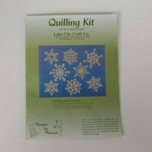 Snowflake Quilling Kit - The art of Paper Filigree Lake City Craft Co