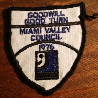 Goodwill Store Jacket Patch - Vintage Miami Valley Council Ohio USA Jacket Patch for sale  Shipping to India