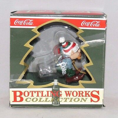 """Coca-Cola Christmas Ornament, Bottle Works Collection, """"Long Winter's Nap"""" 1994"""