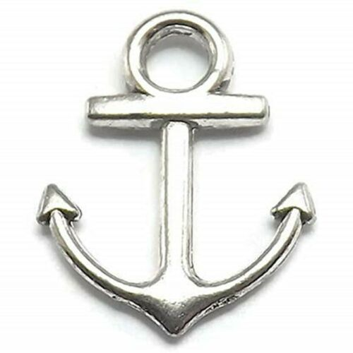 Anchor+Charms+Tibetan+Silver+Pendant+Pack+of+50