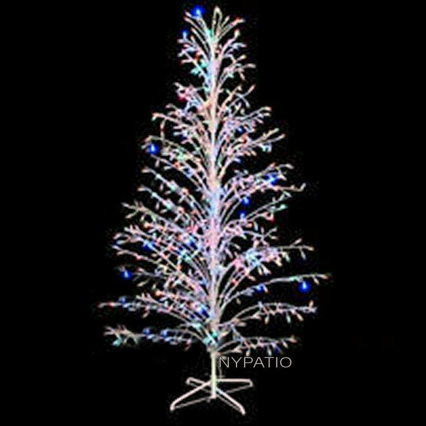 the best attitude d04bb 906f5 Details about 6 FT PRE LIT CASCADE OUTDOOR LIGHTED TWIG CHRISTMAS TREE 400  MULTI LIGHTS
