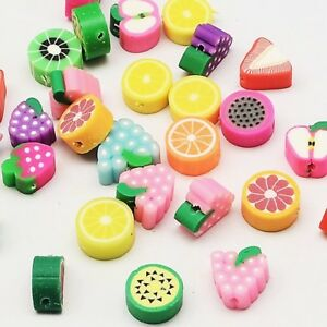20 x Fruit Polymer Clay Spacer Beads