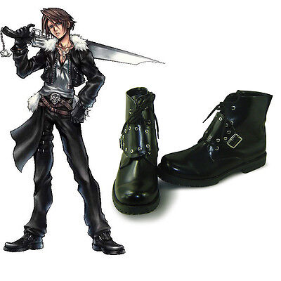 Final Fantasy FF 8 Squall Leonhart Cosplay Shoe Schuhe scarpa Kostüm (Squall Cosplay Kostüm)