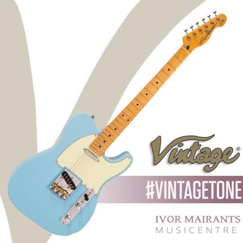 Vintage V75 ReIssued Electric Guitar - Laguna Blue V75LB