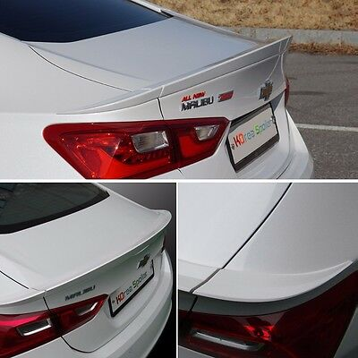 Wide Rear Spoiler 3Pcs with Paint For GM Chevrolet Malibu 2016 2017+