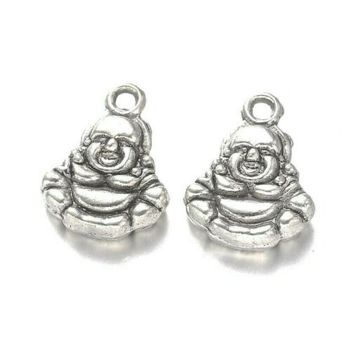 Buddha+Charms+Tibetan+Silver+Pendant+Pack+of+50