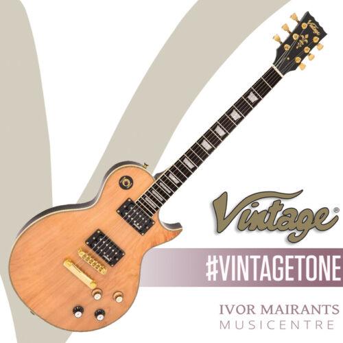 Vintage V100 ReIssued Electric Guitar - Natural Maple Gloss V100MP