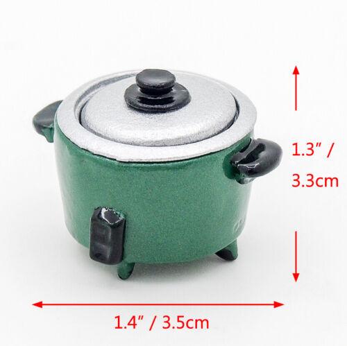 1:12 Miniature Metal Rice Cooker Kitchen Food Steamer Warmer