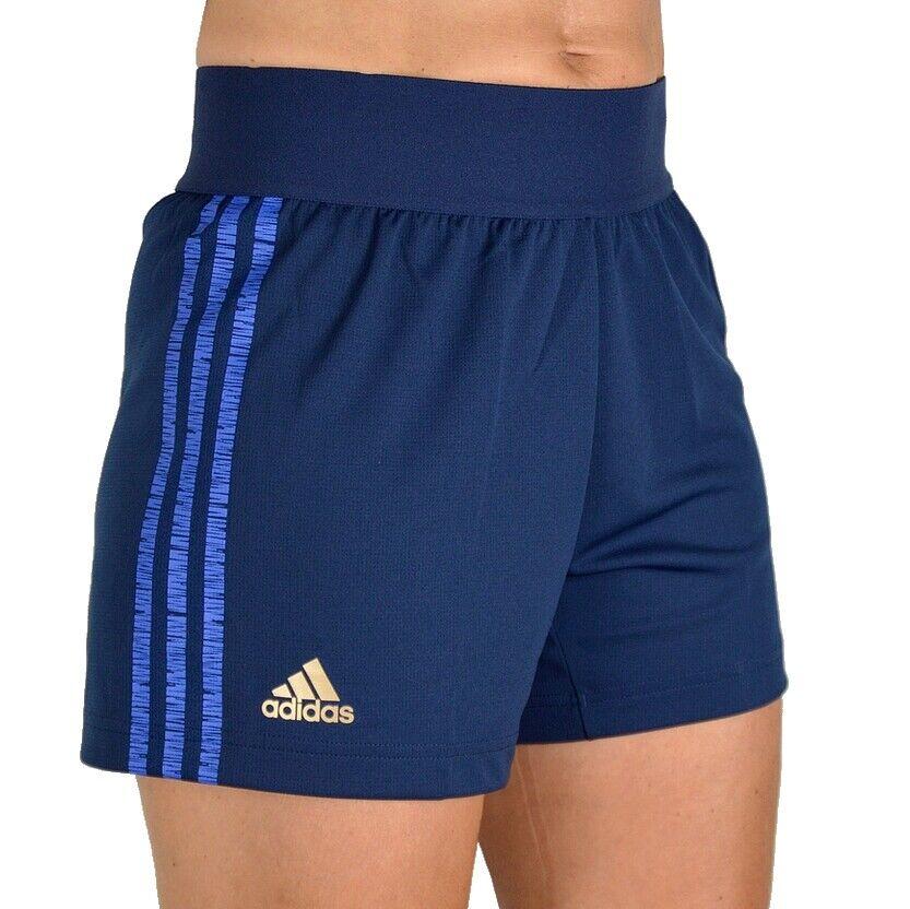 Adidas 3S Fitness Shorts Damen Sport Hose Laufhose Trainingshose navy dunkelblau