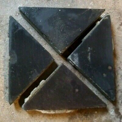 20 Antique & recent Victorian Geometric Floor Tiles Black Triangle 2