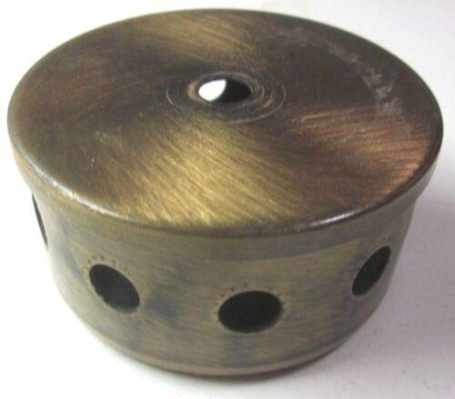 """Chandelier Lamp Break For 10 Arms Bulbs 3-1/4"""" OD Satin Brushed Dark Brass Vtg"""