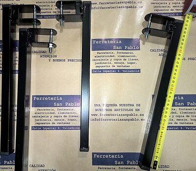 JUEGO DE 4 PATAS 30x30mm 36,5 CM ALTO PARA SOMIER DE LAMINAS...