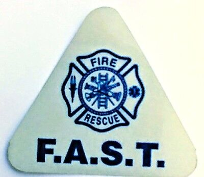 F.A.S.T. TEAM FIRE RESCUE BLUE REFLECTIVE FAST DECAL