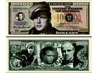 Kamberra 2014 5 Numismas UNC /> Marlon Brando /> Upgraded Security Features
