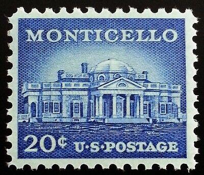 1956 20C Thomas Jeffersons Monticello Scott 1047 Mint F Vf Nh