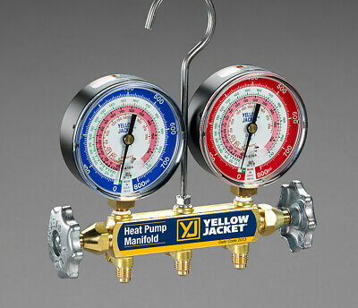 Yellow Jacket 42044 Heat Pump Manifold W 60 Plus Ii Hoses R-22 407c 410a