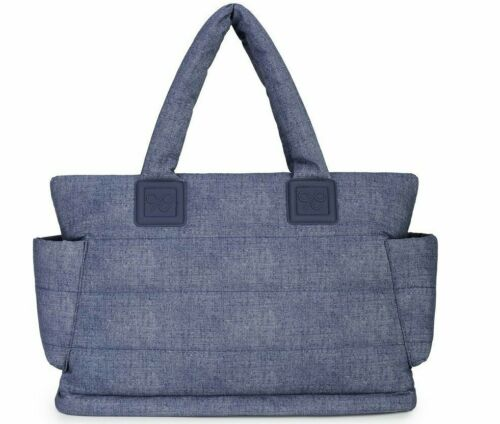 CiPU Baby Diaper Bag with Multiple Compartments & Accessory Bag - DENIM BLUE New