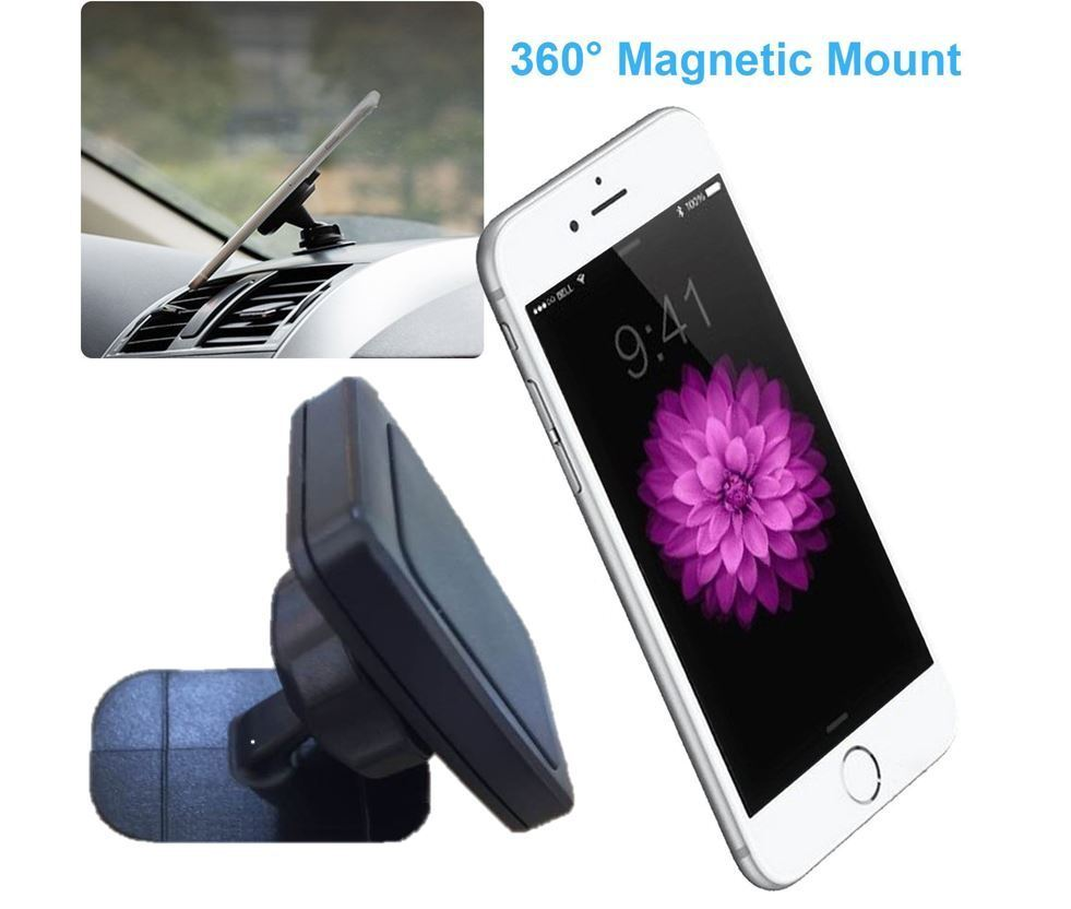 Large Magnetic Car Dashboard Phone Holder Mount Cradle for Smartphone Apple iPhone Samsung Galaxy LG Google Motorola