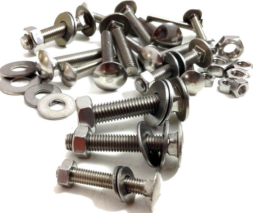 CARRIAGE BOLTS CUP SQUARE DOME COACH SCREWS A2 STAINLESS STEEL M5,M6,M8 KAYS