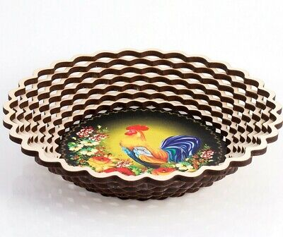 Cookie Snack Chips Candy Serving Platter Bowl Dish w/ ROOSTER COCKEREL Pattern](Serving Dishes)