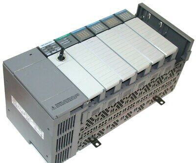 Loaded Allen Bradley 7 Slot Slc 500 Plc 504 1747-l541 2 Inputs 2 Outputs System