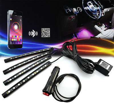 Color Changing LED Interior Car Under Dash Footwell Seats Inside Lighting - Sticks With Lights Decorations