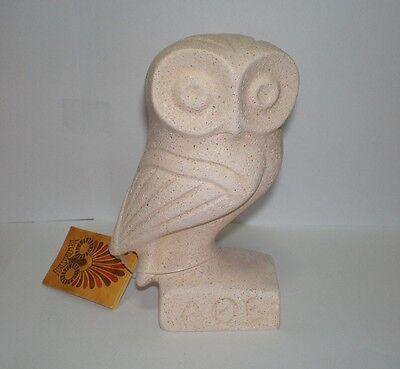 Owl Of Wisdom - Athens  - Cycladic Art Sculpture - Goddess Athena Symbol
