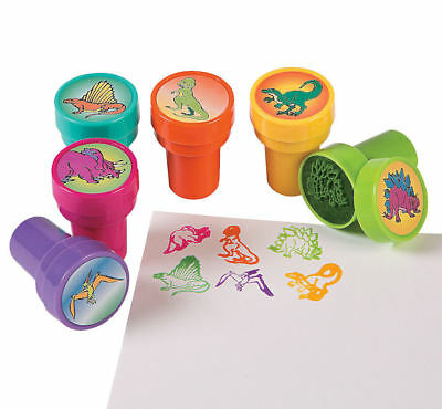 24 Dinosaur Stampers Stamps Birthday Party Favors Prizes Dino theme - Dinosaurs Birthday