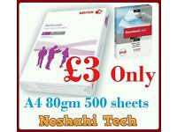 A4 paper 500 sheets 80gm canon or xerox
