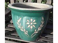 Large Jade Glazed Plant Pot