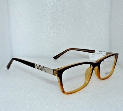 NEW NEW YORK EYE ENHANCE EN3965 BROWN FADE EYEGLASSES GLASSES FRAMES 53-17-140