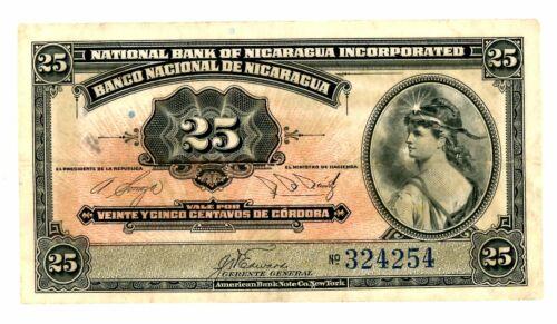 Nicaragua … P-86b … 25 Centavos … ND(1937) ... * (~) XF+ *