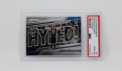 2018 Panini Prizm Get Hyped! #2 Stephen Curry PSA 10 GEM GOLDEN STATE WARRIORS
