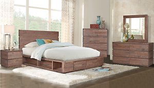 BEST SELLER - Stunning Reclaimed Timber Portsea 4pc Bed Suite Hawthorn Boroondara Area Preview