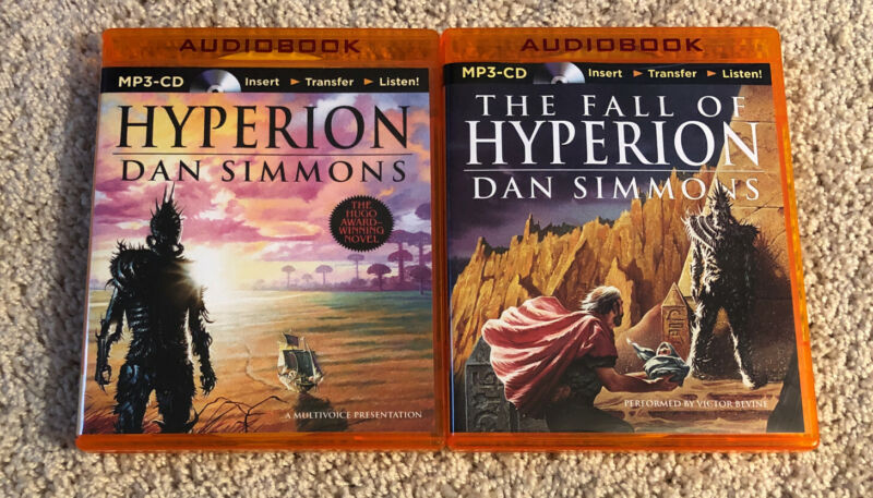 Hyperion + The Fall of Hyperion by Dan Simmons (2 MP3 CD audiobooks unabridged)