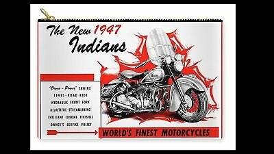 8x10 Vintage Indian Motorcycle Poster PHOTO 1947 Dyna Power Advertisement Racing