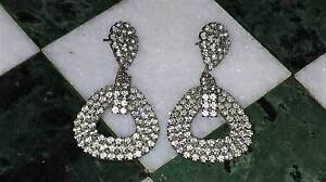 1960s Sparkly Clear Rhinestone Vintage Drop Earrings Pierced New Lambton Newcastle Area Preview