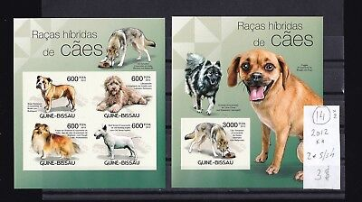 Guinea-Bissau  2012  MNH  two  s/sh  Imperf. Dogs.See scan.