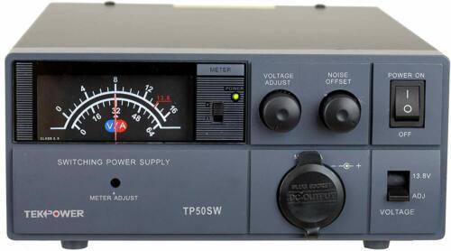 TekPower TP50SW 50 Amp 13.8V Analog DC Power Supply with Cigarette Plug