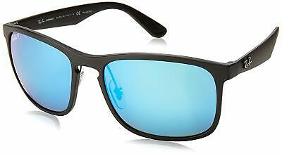 NEW Ray-Ban Chromance Black Frame / Polarized Blue Mirror Lens RB 4264 601SA1 58